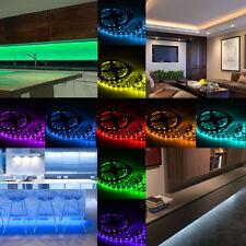 10m Flexible RBG LED Strip 12V 120W Netzteil Fernbedienung LED Streifen Band Top