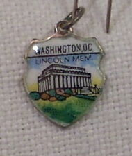 Vintage REU Sterling/Enamel Lincoln Memorial Washington D.C. Bracelet Charm