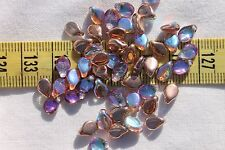 5x7mm Pip Preciosa Czech Glass Beads # 857-AL Copper w/AB Finish  50pcs