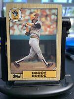 1987 Topps Barry Bonds Pittsburgh Pirates ERROR #320 Baseball CARD, MINT RARE!