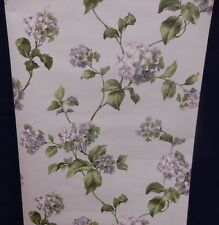 Carey Lind Wallpaper Hydrangea Flower Lavender Green #TN2707 (Lot of 5 Dbl Rls