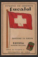 Flag of Switzerland - Suissa c1949 Trade Advertising Card
