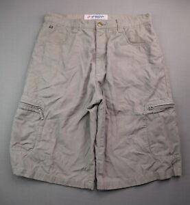 Vintage 1990's Men's Anchor Blue Cargo Shorts Gray Size 34 (Msr 32x12)