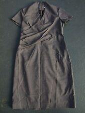 TARGET DRESS SIZE 14 AS NEW BODYFIT BUSINESS WORK FINE PLAID FAB NECKLINE