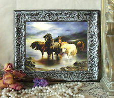 Cheviot Highland Pony HORSE Art Print Antique Styl Framed 11X13 Girl py