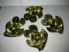 New Brass 2 pieces Gold Fish trinket tray