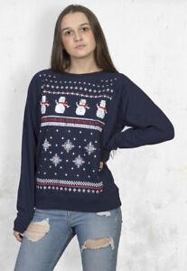 Retro Christmas Snowman Womens Sweatshirt - Alternative to The Christmas Jumper