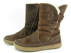 Birkenstock Woodbury Womens Brown Leather Mid Boots Shearling Lined EU 37 / 6.5