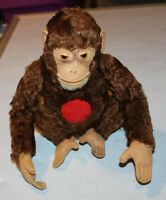 "Vintage Steiff Jocko The Monkey Musical Music Box 10 1/2"" Brown"