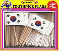 South Korea flag Korean flag toothpicks for cooking cupcakes cocktails & party