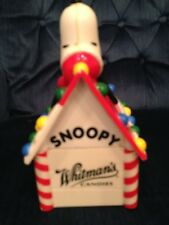 VINTAGE WHITMAN'S CANDIES CHRISTMAS SNOOPY BANK