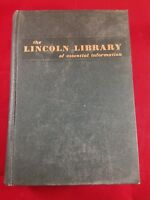 Vintage 1961 Leather Bound Lincoln Library of Essential Information