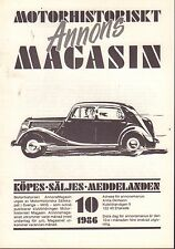 Motorhistoriskt Magasin Annon Swedish Car Magazine 19 1986 T-Ford 032717nonDBE