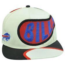 SNAPBACK HAT CAP NFL BUFFALO BILLS OLD SCHOOL VINTAGE DEADSTOCK OFF WHITE FLAT