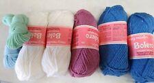 5 skeins vintage Mary Maxim Bolero chunky wool blend 50 gram mixed colors