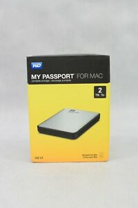 WD My Passport For Mac External HDD Portable Storage 2 TB USB 3.0 New & Sealed