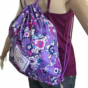 Vera Bradley Drawstring Purple Floral Enchanted Garden Backpack