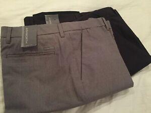 Two Men's Ashworth Glen Plaid Golf Pants W36 L32 NWT New $170