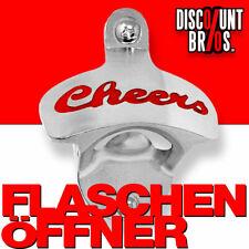 """NEU █ """"Cheers"""" FLASCHENÖFFNER zur Wandbefestigung Bieröffner Wandflaschenöffner"""