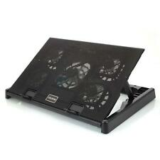 "12-17"" Laptop PC USB Cooling Cooler 5 Fans Adjustable Stand Pad With LED"