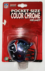 2000 Riddell NFL Pocket Size Color Chrome Helmet Houston Texans NEW NIP