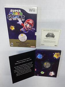 Nintendo Wii Super Mario Galaxy Commemorative Launch Coin w/ Box + Paper