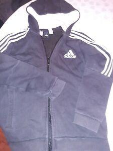 Girls Black Adidas Hoody 11 To 12 Years