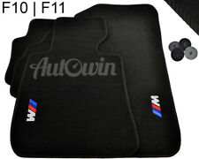 BMW M5 Series F10 F10LCI Black Floor Mats With ///M Emblem LHD Side With Clips