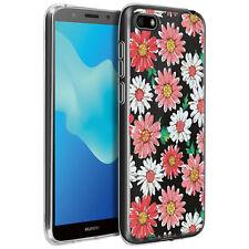 Cover Huawei Y5 2018  Honor 7S Motivi Fiori Silicone Gel Morbido -  Trasparente bca8ac452ea9
