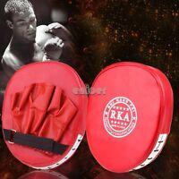 Rojo Nuevo Boxeo Foco Guantes Entrenamiento Pad Escudo Patada Pad Bolsa De MMA