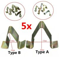 5x New Metal Trim Panel Lining Clips Interior Upholstery For VW Audi Seat Skoda