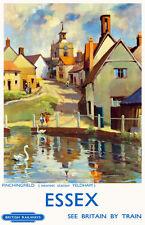 TU93 Vintage Essex Finchinfield British Railways Travel Poster Re-Print A2 A3