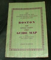 BOSTON AND SUFFOLK COUNTY,  1941 STREET GUIDE MAP