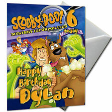 SCOOBY DOO - PERSONALISED  Birthday Card Large A5 + Envelope