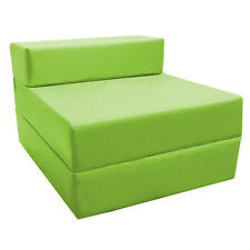 Lime Green Fold Out Z Bed Futon Kids Sleepover Guest Chair Sofabed Mattress