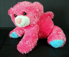 Aurora Fuchsia Pink Bear Posable Plush Stuffed Animal Plastic Pellets
