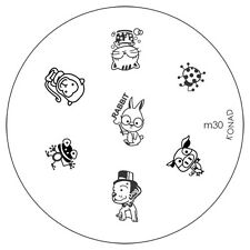 Konad stamping galería de símbolos m30 plate Nails Nail Art Stamp