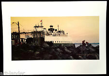 8 WA State Ferry Boat Sunset Kingston Blank Note Cards Marshall Johnson no env.