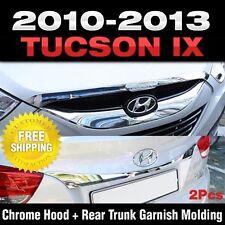 Mobis OEM Chrome Hood + Rear Point Garnish Molding For HYUNDAI 10-13 Tucson ix