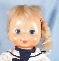 Ideal Pretty Curls Doll in Sailor Dress 1980 H-341 Vintage