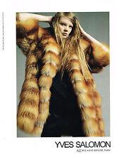 PUBLICITE ADVERTISING  2010   YVES SALOMON  boutique fourrure