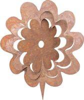 Edelrost Blume K 3D  zum einschlagen in Holz Metall Dekoartion Garten Terrasse