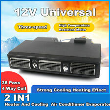 12V 2in1 Underdash Evaporator Blower Fan Heater Air Conditioner for Van Bus Car