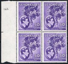 George VI (1936-1952) Block Seychelles Stamps (Pre-1976)
