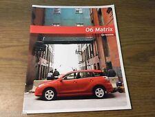 MINT ORIGINAL TOYOTA MATRIX 2006 SALES BROCHURE NEW (R-101)