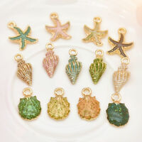 13Pcs/Set Charms Conch Sea Shell Pendant DIY Jewelry Making Handmade Accessories
