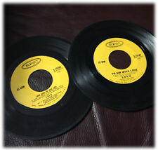 "2 LULU To Sir with Love / Best of Both Worlds  7"" 45 RPM EPIC 5-10260 & 5-10187"