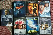 Lot of 7 Preowned DVDs, Runaway Train, Entrapment, Hunter, Caine Mutiny + 3more