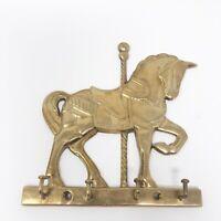Vintage Brass Horse Carousel Key Hanger