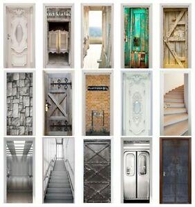 Door Stickers Home Decor Door Wrap Wall Sticker Mural Wallpaper Self Adhesive